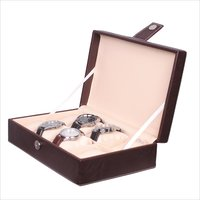 Fico Brown Watch Box for 8 watches