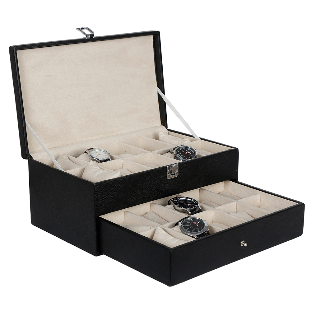 Hard Craft Black Watch box For 20 Watches