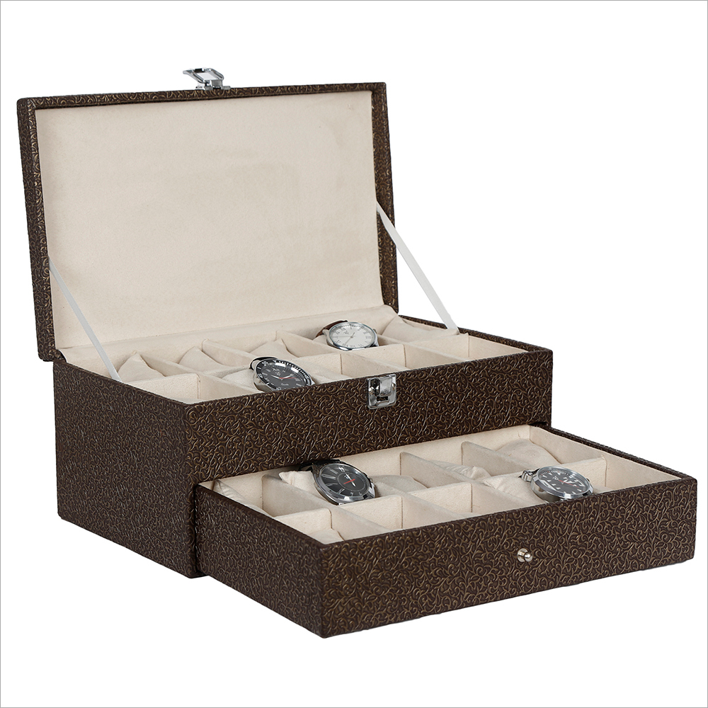 Hard Craft Golden-Brown Watch Boxes for 20 watches