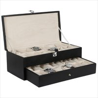 Hard Craft Black Watch Boxes for 24 watche