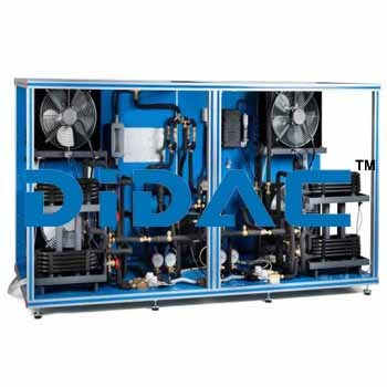 Heat Pump Air Conditioning Refrigeration Unit With Cycle Inversion Valve And Four Evaporators