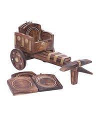 Desi Karigar Wooden Cart Coaster
