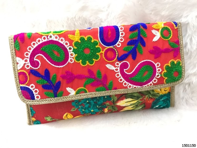 Beautiful Embroidery Clutch Bag