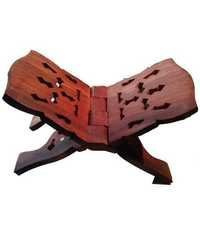 Desi Karigar Brown Wooden Book Stand