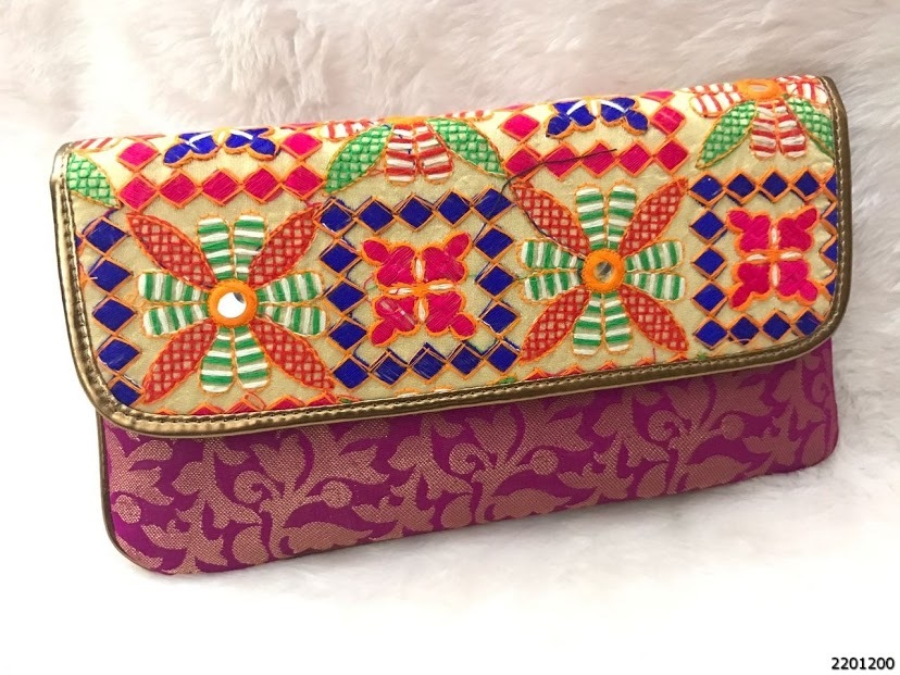Stylish Designer Brocade Evening Clutch Bags