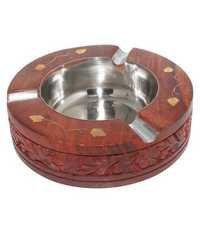 Desi Karigar Brown Wooden Ash Tray