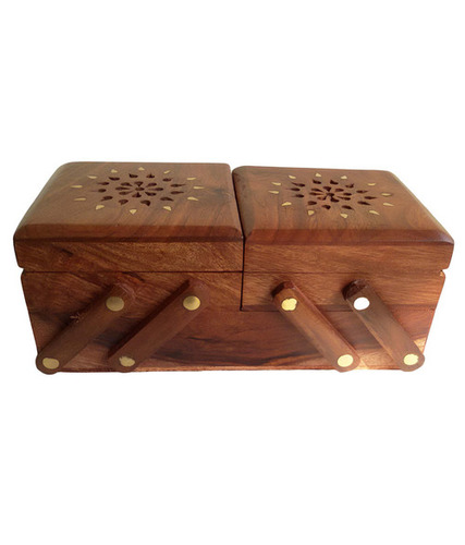 Desi Karigar Hand Carved Multipurpose Wooden Box