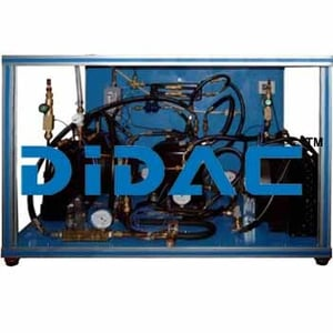 Refrigeration And Air Conditioning Unit One Condenser Air And Two Evaporators Water And Air.