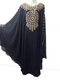 Beautiful stone work moroccan jalabiya kaftan
