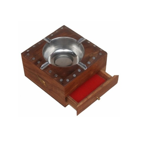 Desi Karigar square ash tray with drawer