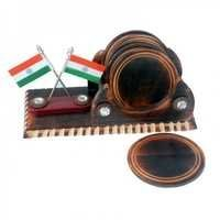 Desi Karigar Tea Coaster With Flag
