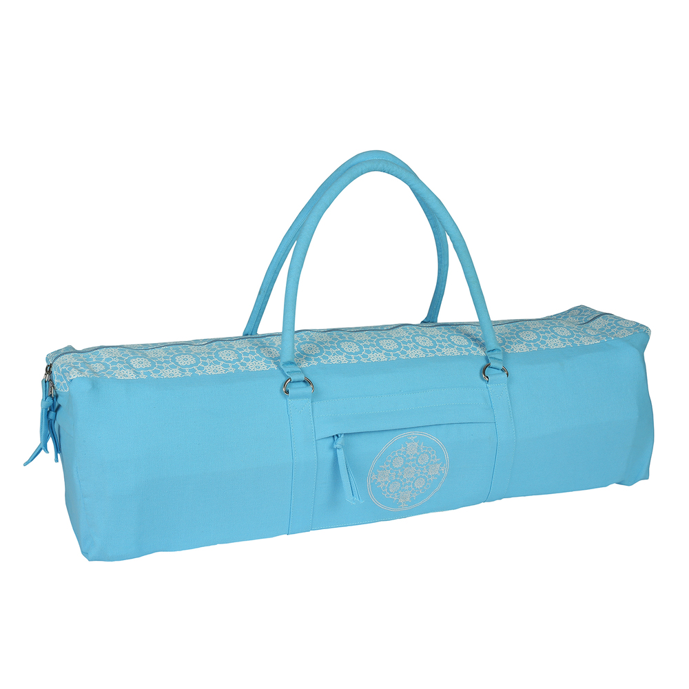 Yoga Kit Bag (Light Sky Blue) Printed & Embroidered
