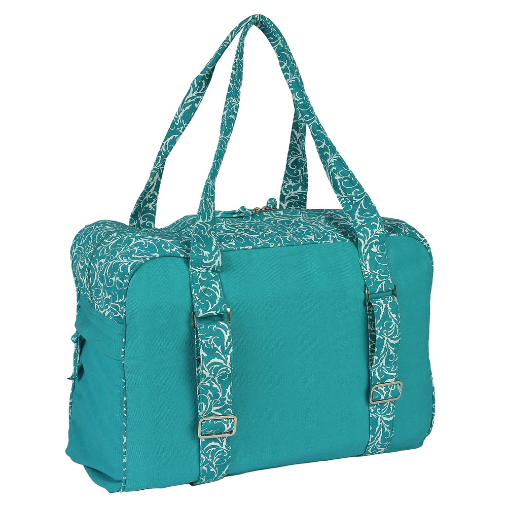 Yoga Kit Bag-Small (Turquoise) Printed Andind Embroidered