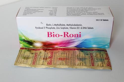 Biotin,L-methaylfolate,methaylcobalamin,pyridoxine,zinc sulphate,vitamin d3