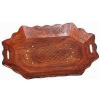 Desi Karigar hexagon cutting wood tray