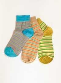 LYCRA STRIPER ANKLET Socks