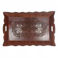 Desi Karigar rectangular designer edge tray