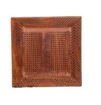 Desi Karigar square wood tray