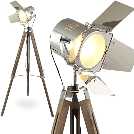 Flap Search Light W- Wooden Tripos Stand