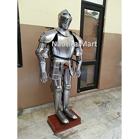 Medieval Wearable Knight Crusador Full Suit of Armor