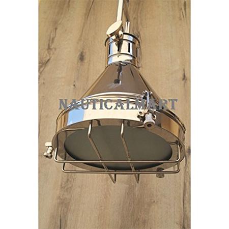 Chrome Grill Pendant Lamp