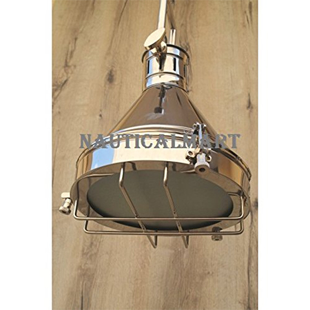 Chrome Grill Pendant Lamp