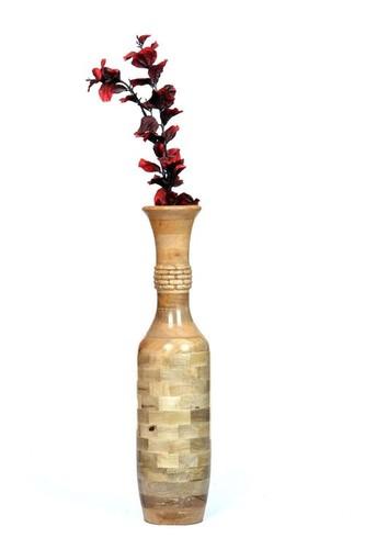 Desi Karigar Layered Wooden Flower Vase