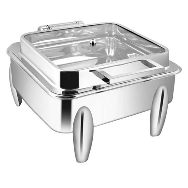 Square Full Glass Chafer With Legs