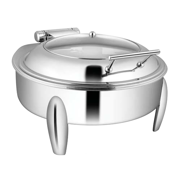 Round Glass LiD Chafer W-Curved Legs