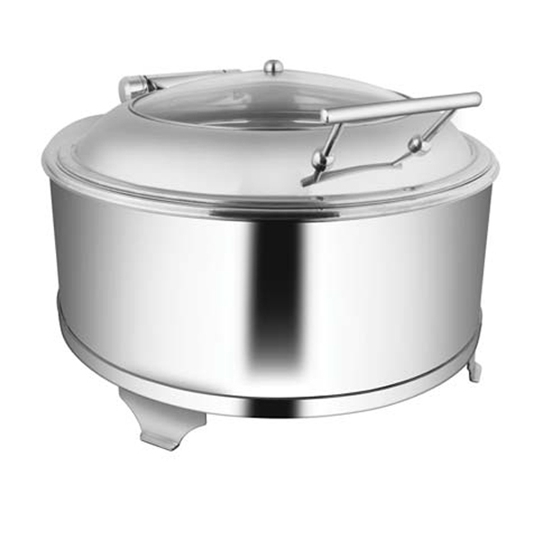 Round Glass LID Chafer W-Fuel Frame