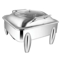 Square Glass Lid Chafer W-Curved Legs