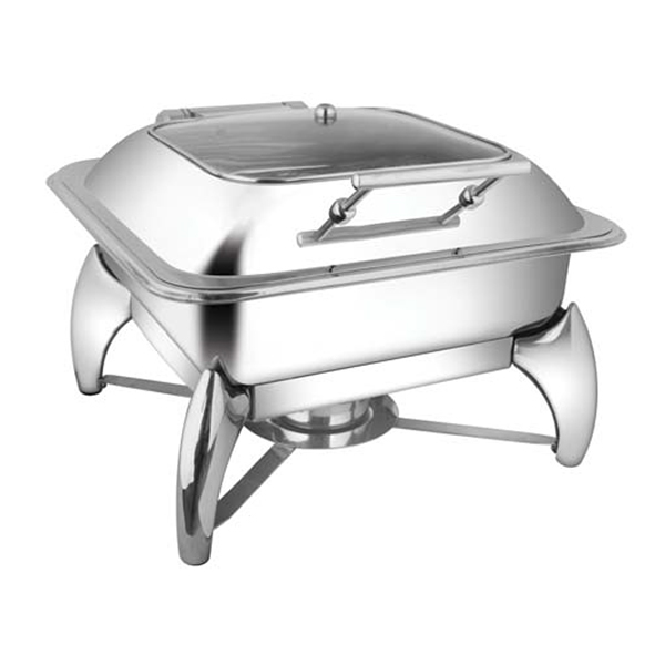 Square SQ Glass LID Chafer W-Smart Legs