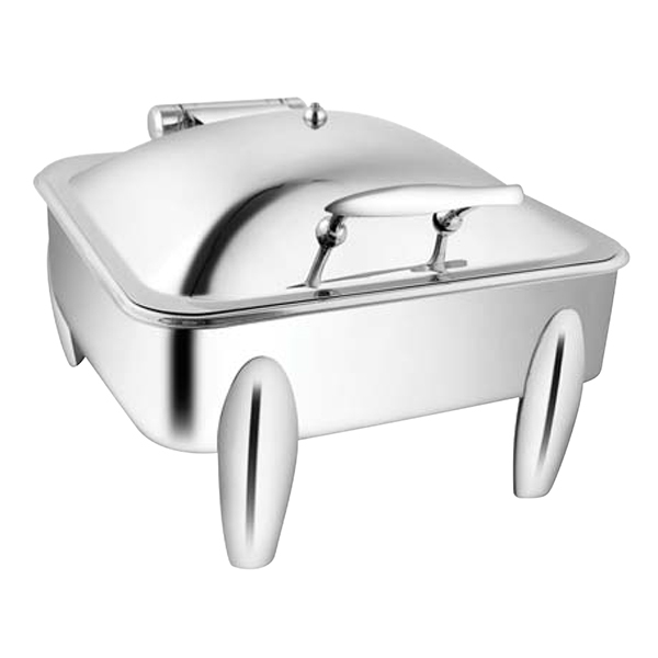 Square SS SS LID Chafer W-Curved Legs
