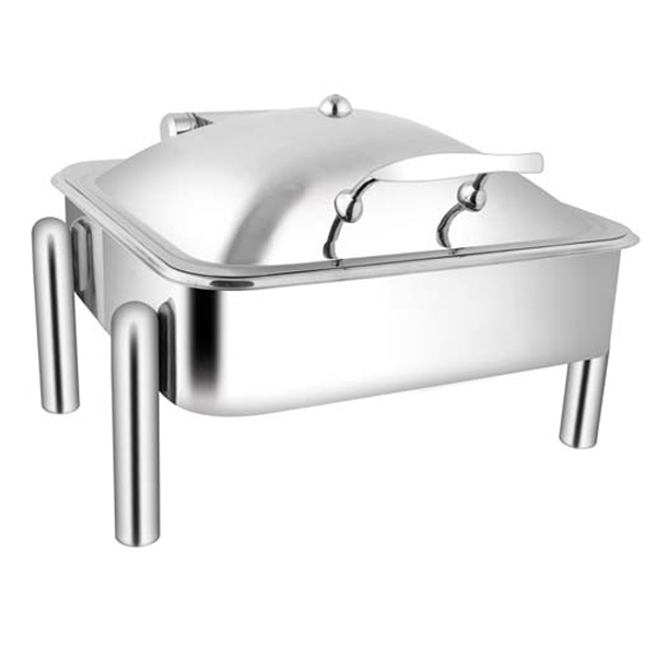 Square SS SS LID Chafer W-Pipe Legs