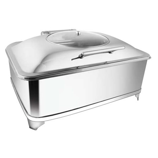 Rectangular Glass LID Chafer W-Fuel Frame