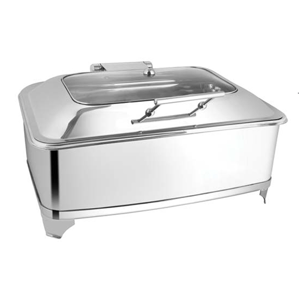 Rectangular Rect Glass Chafer W-Fuel Frame