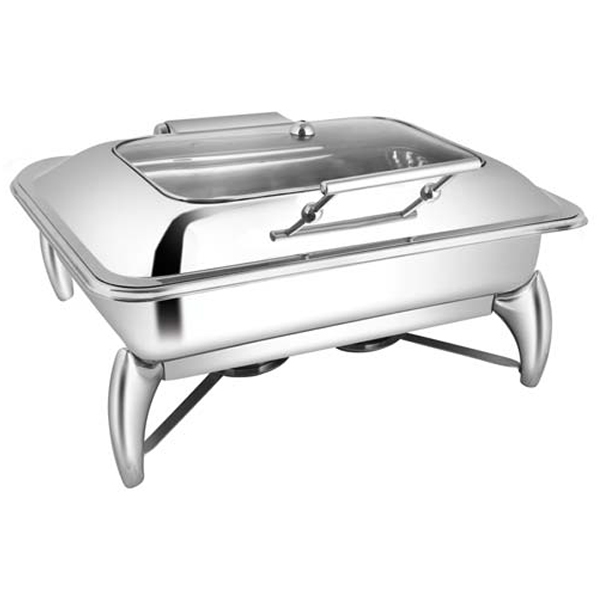 Rectangular Rect Glass Chafer W-Smart Legs