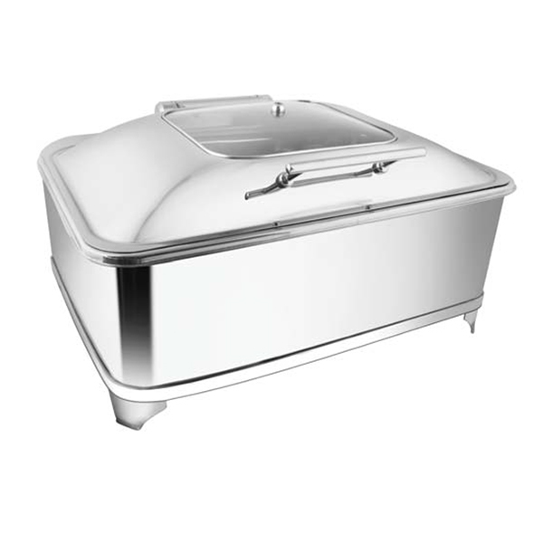 Rectangular SQ Glass Chafer W-Fuel Frame
