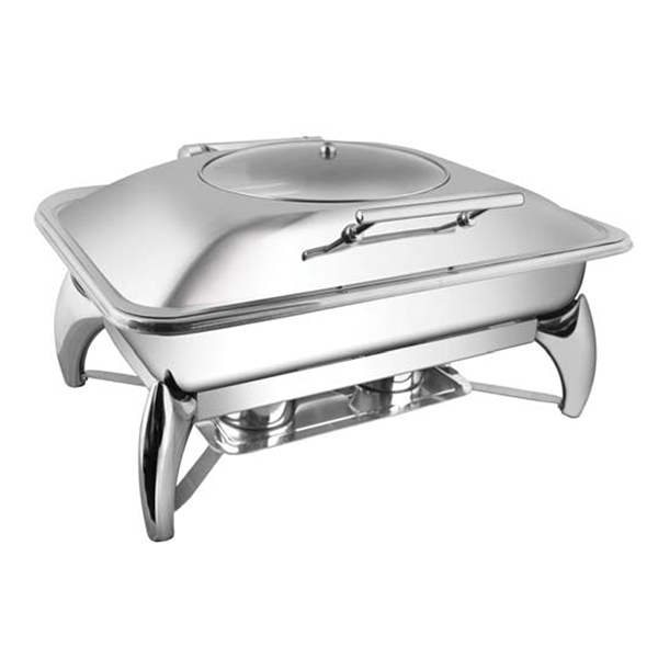 Rectangular Glass LID Chafer W-Smart Legs
