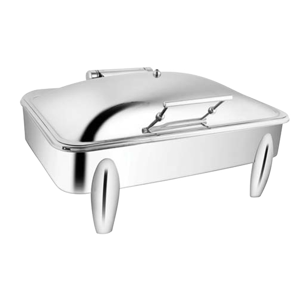 Rectangular SS SS LID Chafer W-Curved Legs