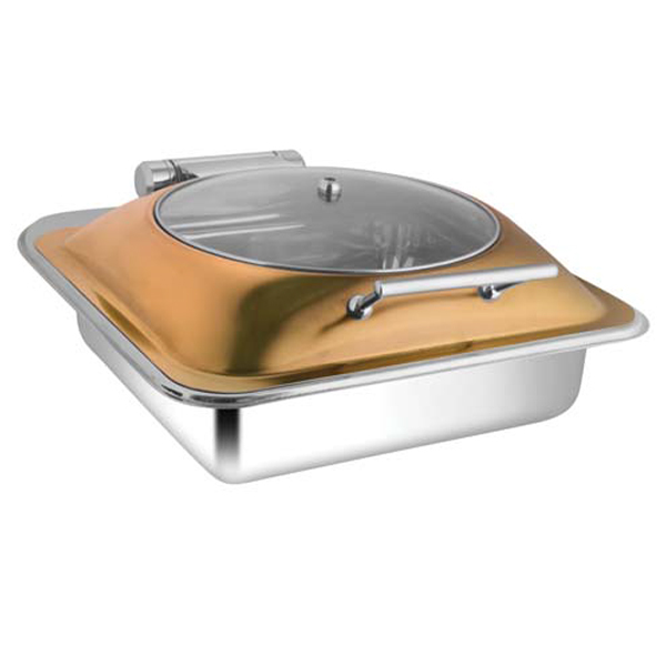 Square Rose Gold Glass LID Chafer