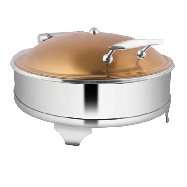 Round Rose Gold Chafer W-E E & Frame