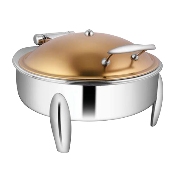 Round Rose Gold Chafer W-Curved Legs