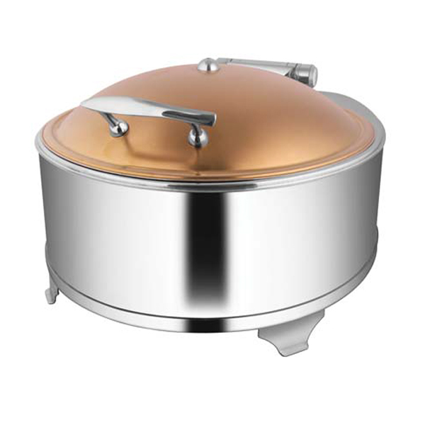 Round Rose Gold Chafer W- Fuel Frame