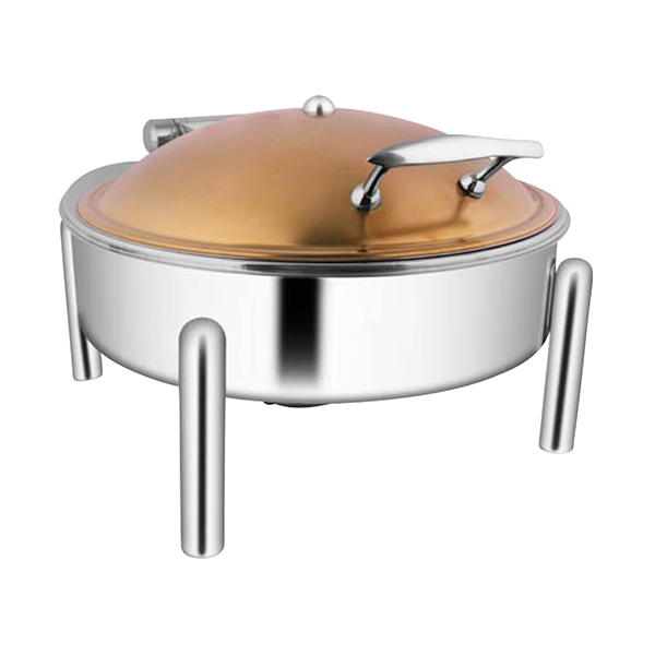 Round Rose Gold Chafer W-Pipe Legs