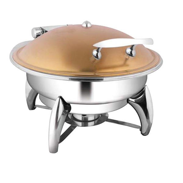 Round Rose Gold Chafer W- Smart Legs