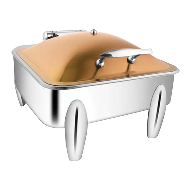 Square Rose Gold Chafer W- Curved Legs