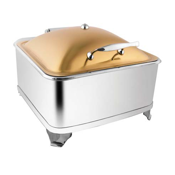 Square Rose Gold Chafer W-Fuel Frame