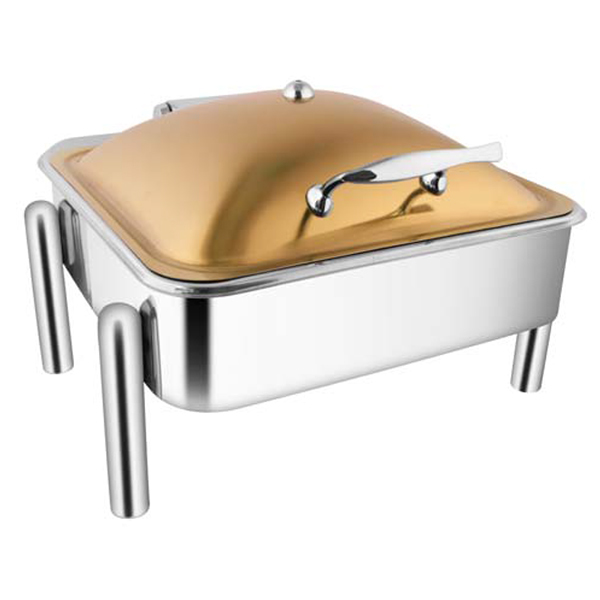 Square Rose Gold Chafer W- Pipe Legs