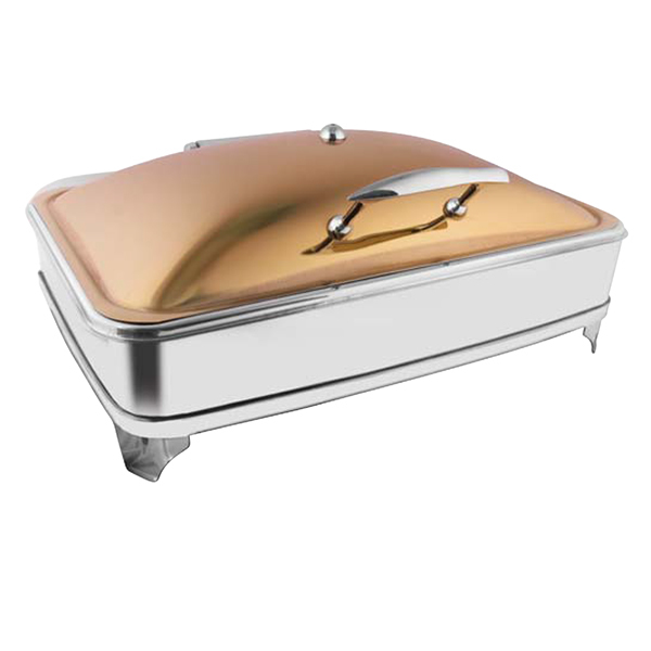 Rectangular Rose Gold Chafer W-E E & Frame